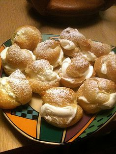 Mini Cream Puffs filled with whipped cream