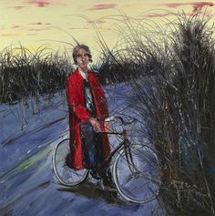 Zeng Fanzhi(Chinese, b.1964) Bicycle, oil on canvas, 200 x 200cm, private collection (sold atChristie's Shanghai onSeptember 26, 2013 for1.5 million US$). Zeng Fanzhi is a Contemporary painter, known for his Expressionist paintings laden with psychological and political overtones. Born in Wuhan in the Hubei Province, Zeng studied oil painting at the Hubei Academy of Fine Arts, where he was strongly influenced by German Expressionism. His work has been shown in museums and ...