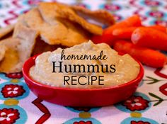 Homemade Hummus Recipe {from @weelicious} - perfect for toddlers and kids!