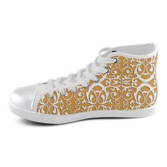 Trendy canvas shoes with orgami pattern High Top Canvas Shoes for Women(Model002)