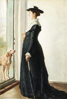 Michael Peter Ancher (Danish painter) 1849 - 1927 Porträtt av Anna Ancher (Portrait of Anna Ancher), 1985-86 oil on canvas 93 x 63 cm.