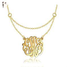 14K Gold Filled Layered Monogram Initials Necklace - Wedding nacklaces (*Amazon Partner-Link)