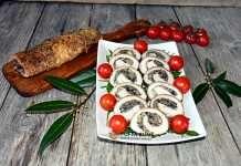 Rulada aperitiv din cotlet de porc cu ciuperci Caprese Salad, Holiday Decor, Pork, Insalata Caprese