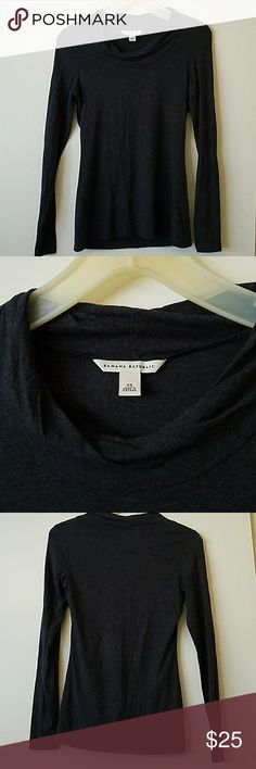 BANANA REPUBLIC DARK GREY SHIRT Dark gray its MODAL AND SPANDEX material its super soft Banana Republic Tops Blouses