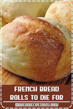★★★★★ - French Bread Rolls ~ Very easy to make and so tasty! even for someone who is a bread novice. Bread Recipes, Baking Recipes, Easy Recipes, Vegan Recipes, Vegan Snacks, Diabetic Recipes, Appetizer Recipes, Snack Recipes, Dessert Recipes