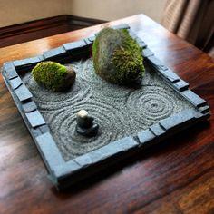 """'Moss on Rocks' - Michael's """"Living"""" miniature #Zen garden #meditation"""