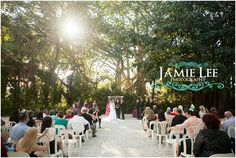 Natalie and Chris' wedding ceremony in RainForest Grove at Naples Zoo    Photography by Jamie Lee Photography