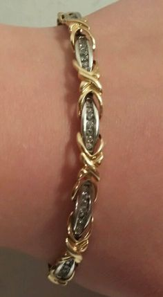 1 CTW Diamond Tennis Bracelet 14K White & Yellow Gold 16 Grams Total Weight in Jewelry & Watches | eBay