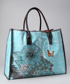 Take a look at this Wellspring Orange & Blue Poppy Tote by Summer Accessories Collection on #zulily today!