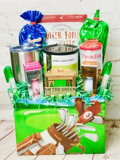 Golf tournamnet raffle- add your company promo Customized Gifts, Personalized Gifts, Corporate Gifts, Gift Baskets, Artisan, Golf, Crafts, Sympathy Gift Baskets, Manualidades