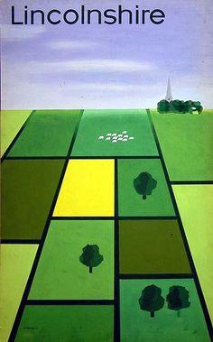 Tom Eckersley Lincolnshire artwork British railways poster