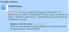 Embracing Innovative Orthodontics - Portage, Kalamazoo, Paw Paw, MI: 5 Star Google+ Review for Kalamazoo Orthodontics.