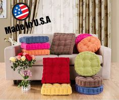 """Made USA 3"""" Thick Corduroy Cushion Pad Seat Chair Patio Car Office- Round/Square #MagshionInc"""