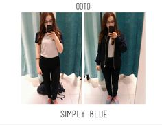 Outfit of the day: Simply blue. If don't speak czech please use the translator on the right side. Thak you♥ Don't Speak, Outfit Of The Day, Black Jeans, Ootd, Blog, Pants, Outfits, Fashion, Today's Outfit