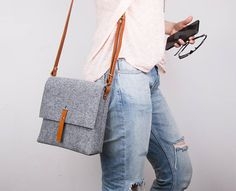 Small Messenger Bag Women Fabric crossbody bags Leather