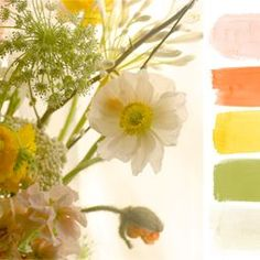 We are already seeing this Color Family in a few 2013 weddings.    Terrain A Citrus Season with Ryan Jane Co. #shopterrain