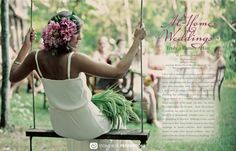 Spread in Home Magazine. Wedding Photography. Stone Blue Productions.