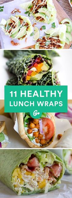 They're the best thing since sliced bread. #lunch #wraps #recipes http://greatist.com/eat/healthy-lunch-ideas-quick-and-easy-wraps