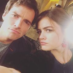 Find images and videos about pretty little liars, pll and lucy hale on We Heart It - the app to get lost in what you love. Lucy Hale, Ezra And Aria, Laura Leighton, Preety Little Liars, Ezra Fitz, Ian Harding, Wattpad, Best Shows Ever, Ulzzang Girl