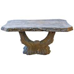 Antique and Vintage Tables - For Sale at Concrete Forms, Concrete Table, Concrete Art, Concrete Crafts, Wooden Crafts, Table Furniture, Cool Furniture, Interior Inspiration, Design Inspiration
