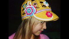 Цветочная кепка крючком Часть 2/ Вязание для начинающих/ Crochet  hat