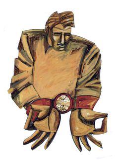 Escravo do tempo ilustração portuguesa http://flanca-illustration-animation.blogspot.com/