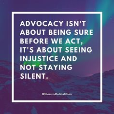 Advocacy is so important!!