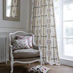 curtains...chair...pillows...all of it... @Rachel Meadows