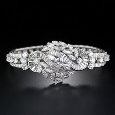 Best Diamond Bracelets : Mid-Century Platinum and Diamond Bracelet – 40-1-4408 – Lang Antiques - #Bracelets https://youfashion.net/accessory/bracelets/best-diamond-bracelets-mid-century-platinum-and-diamond-bracelet-40-1-4408-lang-antiques/