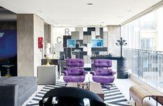 Invasão de cor no apartamento Magnólia, da Suíte Arquitetos