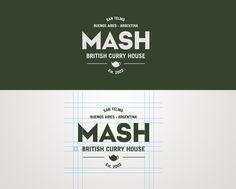 Mash British Curry House by James Eccleston, via Behance