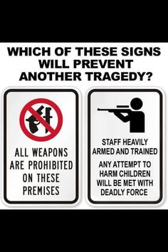 School defense is not limited to guns. Law enforcement could provide self-defense & SWOT training to all school staff. Media blitz the hell out of THAT as a deterrent. Why throw more money at schools when those who run them lack common sense? Nature educates. Kids are at risk at school. SO... Parents need to get their kids ongoing self-defense training. Train staff to protect kids...or home school. Arguing over guns distracts from the real problem --> UNPROTECTED KIDS ARE VULNERABLE TO…