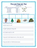 FREE Frog and Toad All Year work page and coloring PDF by Wise Owl Factory