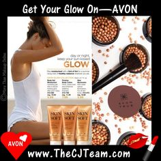 Get Your Glow Onwith Avon! Day or night keep your sun-kissed glow. Stay moisturized with a hint of tent for a summer vacay look of healthy radiance wherever you are! Regularly $10-$11. #Avon #Glow #Bronzer #C16 #SatinGlow #BronzingPearls #GetYourGlowOn #CJTeam #Avon4Me Shop Avon Glow products online @ www.TheCJTeam.com