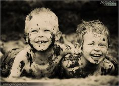Mud portrait by Arising Images. Brother Photos, Boy Photos, Baby Pictures, Family Photos, Toddler Boy Photography, Couple Photography, Brother Photography, Photography Ideas, Whimsical Photography
