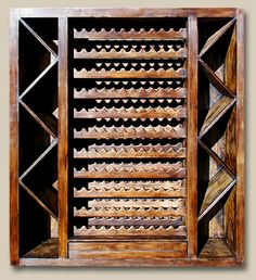 Wine Racking Cabinet (1 of 4) Constructed with reclaimed Douglas fir. 7125D Emmons