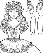 322 Best Black & White Paper Dolls Coloring Pages