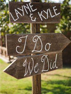 Wedding signs are really easy and add the perfect rustic chic touch to your celebration. They are also a great idea for our property because we have two different wedding venues