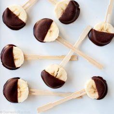 #DIY #Chocolate banana pops ( after school snack ) #kidsdinge