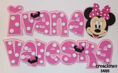 moldes de letras para hacer en goma eva - Buscar con Google Letters And Numbers, Minnie Mouse, Felt, Disney Characters, Banners, Google, Diana, Country, Fashion