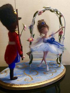 Aguja fieltro muñeca Waldorf muñeca inspirada lana cuento
