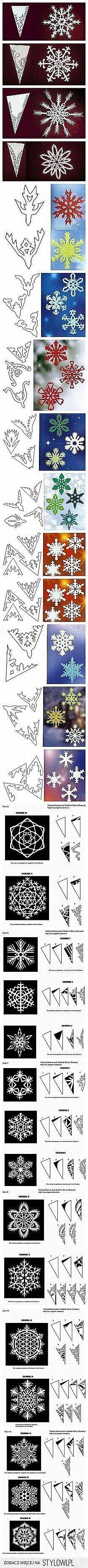 śnieżynki z papieru
