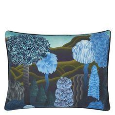 Designers Guild, Christian Lacroix, Wallpaper Samples, Fabric Wallpaper, Green Ground, Clouds Pattern, Design Department, Paint Samples, Blue Pillows