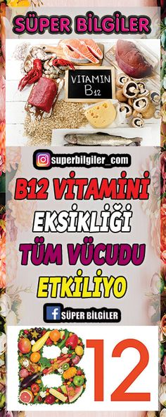 B12 Vitamini eksikliği tüm vücudu etkiliyo B12 vitamini eksikliği, hayvansal gıdadan fakir beslenmek ve emilim sorunları gibi birçok nedene bağlı olarak ortaya çıkabiliyor. Bu sorun kişide halsizlikten konsantrasyon bozukluğuna, el-ayak uyuşmasından unutkanlığa dek birçok rahatsızlığa yol açabiliyor.