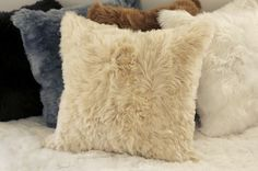 Alpaca Fur Pillow Cover Beige