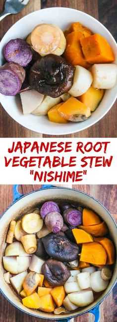 Japanese Root Vegetable Stew (Nishime) - a nourishing, healthy dish featuring slow braised nutritious root vegetables