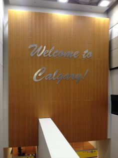 Calgary International Airport after you get off plane/terminal