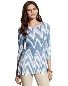 Chico's Grace Chevron-Patterned Top #chicos