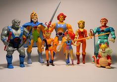 The Thundercats toys!  (I even took Wiley-kit on a trip with me to El Salvador LOL)
