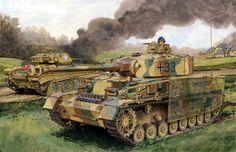 1945 West Panzer IV Ausf J - Ron Volstad - box art Dragon